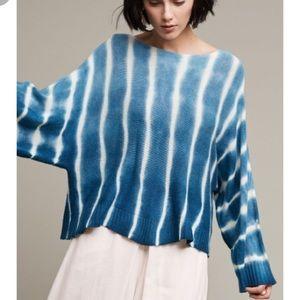 Anthropologie tempest moth sweater tie dye